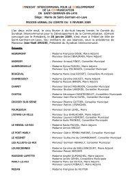 Procès verbal du 5 février - Saint Germain-en-Laye