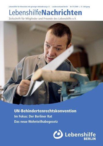 Lebenshilfe Nachrichten 1/2009 - Lebenshilfe Berlin