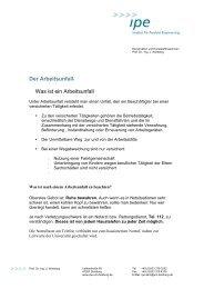 Der Arbeitsunfall - an der Universität Duisburg-Essen