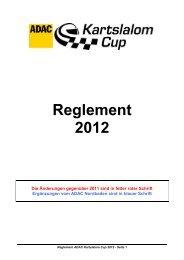 Reglement 2012 - ADAC