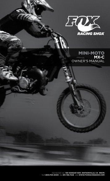 MINI-MOTO MX-C Owner's Manual - Fox