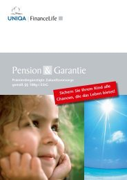 Pension & Garantie - FinanceLife Lebensversicherung AG