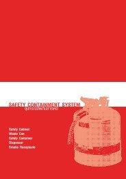 อุปกรณ์จัดเก็บสารเคมี Safety Containment System