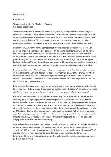 """Le comptoir forestier"""" in Marche-en-Famenne Goed zaad is ..."""