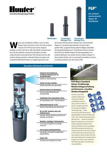 INT-162 PGP Rotary Sprinklers Brochure - Hunter Industries