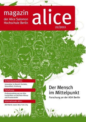 Der Mensch im Mittelpunkt - Alice Salomon Hochschule Berlin