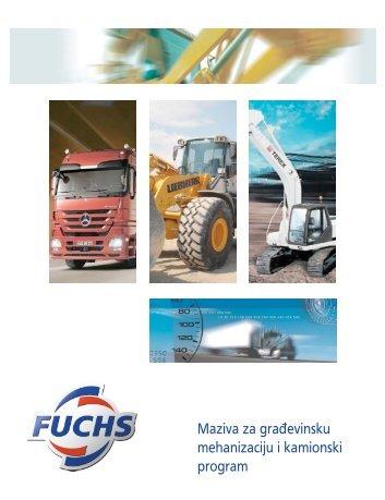 Gradjevinska mehanizacija.indd - FUCHS Maziva