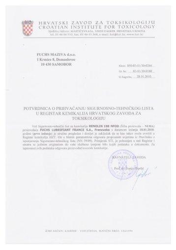 Renolin 198 NFOD - FUCHS Maziva