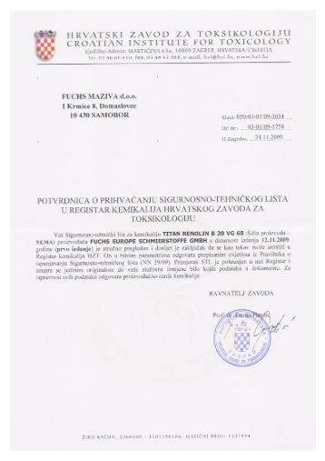 Renolin B 20 VG 68 - FUCHS Maziva