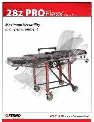 28Z Frame Cot Sales Sheet - Ferno