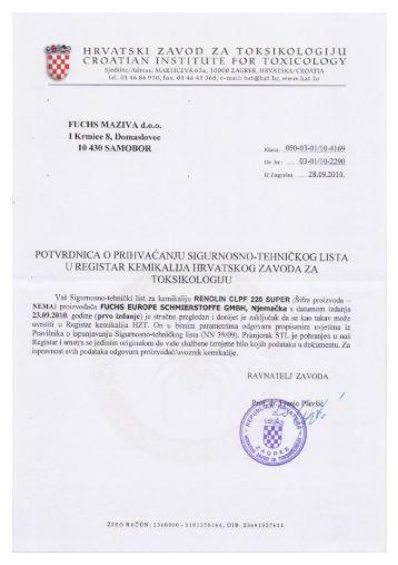 Renolin CLPF 220 Super - FUCHS Maziva