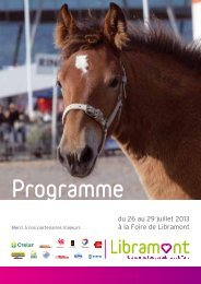 Programme 2013 - La Foire de Libramont