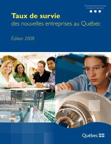 Étude – Taux de survie des nouvelles entreprises au Québec - mdeie