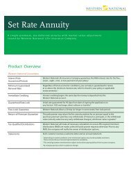 Set Rate Annuity: Product Overview - NestEgg Builders