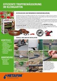 effiziente tropfbewässerung im kleingarten - Beregnungsparadies