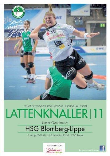 LATTENKNALLER|11 - GAST: HSG Blomberg-Lippe - 12.04.2015 - SAISON 2014/2015