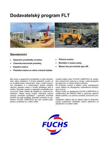 Katalog LUBRITECH 2006 - pro stavebnictví - Fuchs-oil.cz