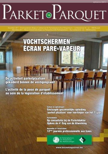 VOCHTSCHERMEN ÉCRAN PARE-VAPEUR - Bouwmagazines
