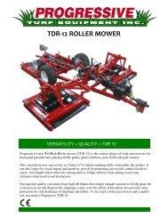 TDR-12 ROLLER MOWER - Vanmac.nl
