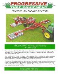 Progressive PM36R 5-Deck Roller Mower - Vanmac