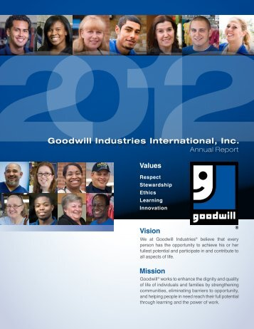 2012 Goodwill Industries Interantional Annual Report