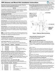 installing the collar bracket mount kit - PCTEL | Antenna