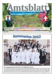 Tourist-Information/Verkehrsverein Durbach in der Zeit vom 23. April ...