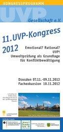 11.UVP-Kongress 2012 Emotional? - Lokale Agenda 21 für Dresden ...