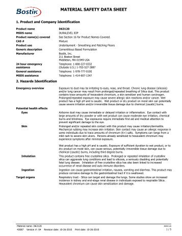 material safety data sheet msds pdf
