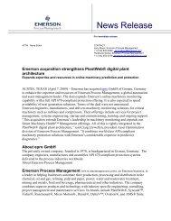 News Release - Emerson Process Management