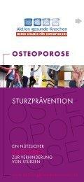 OSTEOPOROSE Sturzprävention - Aktion gesunde Knochen