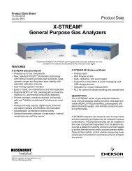 General Purpose Gas Analyzer - Emerson Process Management