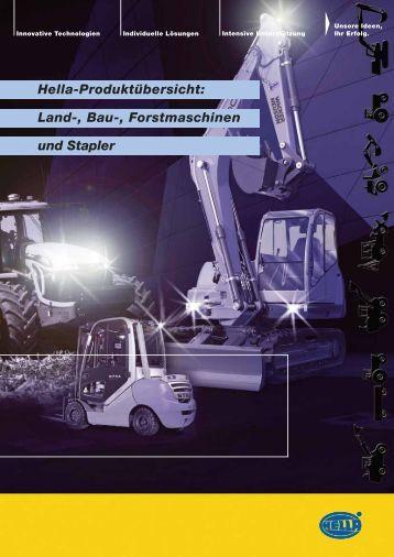 Land-, Bau-, Forstmaschinen und Stapler Hella-Produktübersicht: