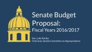 Senate Budget Proposal - Media Briefing and Committee[1]