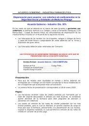 ACUERDO GOBIERNO – INDUSTRIA FARMACEUTICA ...