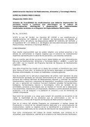Disposición 3683/2011 - Anmat
