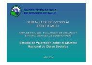 Valoración sobre el Sistema Nacional de Obras Sociales