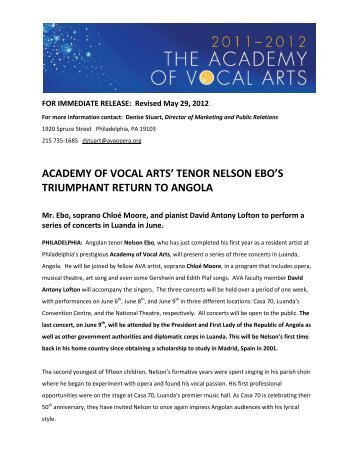 AngolaConcertPressRe.. - Academy of Vocal Arts