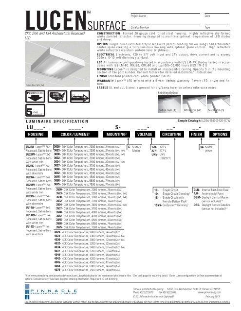 Lu Led S Pinnacle Architectural Lighting