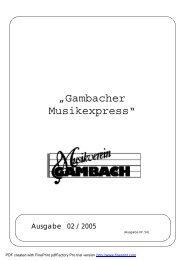 Musikexpress_02_2005.pdf - Musikverein Gambach