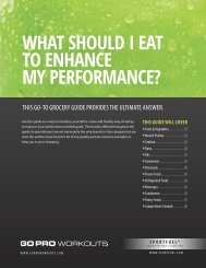 WHAT SHOULD I EAT TO ENHANCE MY ... - SportFuel, Inc.