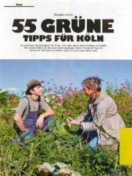 55 grüne Tipps für Köln. 11/2010 PRINZ