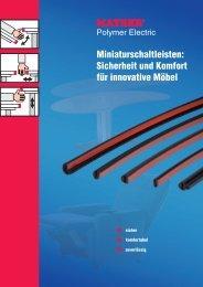 Miniaturschaltleisten: Sicherheit und Komfort für innovative Möbel