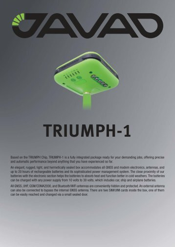 Triumph (data sheet) - CT Systems