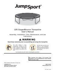 JS 10ft StagedBounce Trampoline (INS-P-11276A) 200 ... - JumpSport