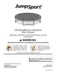 JS 12ft StagedBounce Trampoline (INS-P-10007H) pre ... - JumpSport
