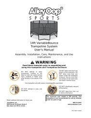 VariableBounce Trampoline User's Manual - JumpSport