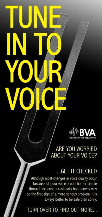 Download 'Tune in to your voice' - British Voice Association