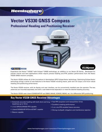 Vector VS330 GNSS Compass - Canal Geomatics