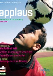 Die Fußball WM Großes Duisburger Stadtfest ... - Duisburg nonstop